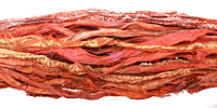 Tangerine 100% Silk Sari Ribbon