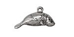 Green Girl Pewter Manatee 27x15mm