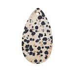 Dalmatian Jasper (matte) Flat Teardrop Pendant 25x45mm