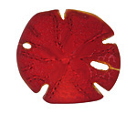 Cherry Red Recycled Glass Sand Dollar 39mm