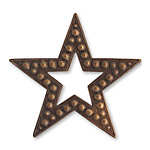 Vintaj Natural Brass Beaded Star 45mm