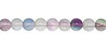 Rainbow Fluorite Round 6mm