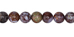 Red Lightning Agate Round 8mm