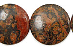 Leopardskin Jasper Puff Coin 30mm