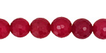 Ruby Red Agate Faceted Round 10mm