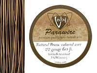 Vintaj Natural Brass Parawire 22 gauge, 60 feet