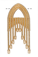 Zola Elements Matte Gold (plated) Gothic Arch Chandelier Focal 30x66mm