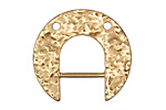 Zola Elements Matte Gold (plated) Hammered Arc Focal w/ Bar 30x28mm
