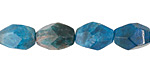 Pacific Blue Apatite Faceted Rice 9-14x7-9mm