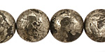Golden Pyrite (silver tone) Puff Coin 16mm