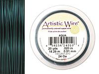 Artistic Wire Aqua 24 gauge, 20 yards
