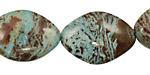 Blue Calsilica Jasper Horse Eye 24x18mm