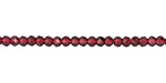 Garnet Faceted Rondelle 3mm