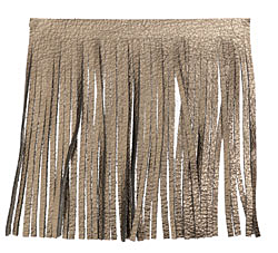 Antiqued Bronze Leather Tassel Fringe 5 inch square