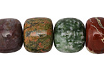 Multi Gemstone (Unakite, Obsidian, Tree Jasper, Red Bend Jasper, Picture Jasper) Barrel 15-18x15-17mm