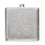 Nunn Design Sterling Silver (plated) Grande Square Bezel Pendant 34x39mm