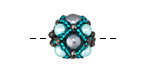 Deep Sea Hand Woven Round Bead 15mm