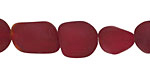 Black Cherry Red Recycled Glass Small Nugget 12-17x10-12mm