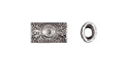 Zola Elements Antique Silver (plated) Sunflower Rectangle Slide 13x7mm