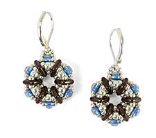 Alrika Earrings Pattern for CzechMates