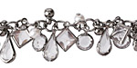 Gunmetal (Plated) Crystal Mix Jewel Drop Chain