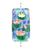 Grace Lampwork Water Lilies Kalera 20-21x38-39mm