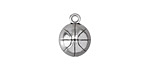 Antique Silver (plated) Basketball Charm 11x14mm