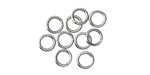 Stainless Steel Round Jump Ring 6mm, 18 gauge