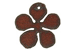 The Lipstick Ranch Rusted Iron Daisy Pendant 30mm