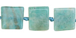Brazil Amazonite Natural Cut Square Slab 15-17x15-17mm