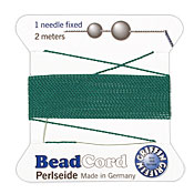Green Griffin Nylon Beading Cord Size 4, 2 meters