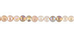 Moonstone (multi) w/ AB Luster Faceted Coin 4mm
