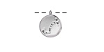Rhodium (plated) w/ Crystals Scorpio Constellation Charm 11x13mm
