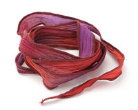 Cape Coral Purple Hand Dyed 100% Silk Ribbon 1/2""