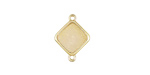 Metallic Crystal Druzy Diamond Link in Gold Finish Bezel 16x12mm