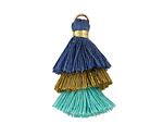 Peacock Mix 3-Tiered Tassel 35mm