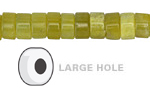 Olive Jade Heishi (Large Hole) 5x10mm