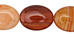 Carnelian (natural) Flat Oval 20x15mm