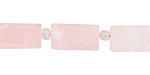 Rose Quartz (matte) Brick 15-16x8mm