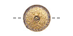 Czech Glass Luster Gold Starflower Button 18mm