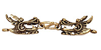 Saki Bronze 2 Headed Dragon Clasp 65x14mm