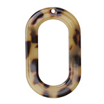 Zola Elements Light Tortoise Shell Acetate Oval Donut 27x44mm