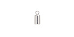 Silver (plated) Cord End w/ Loop 4mm