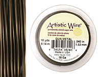 Artistic Wire Antique Brass 18 gauge, 10 yards