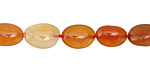 Carnelian (natural-orange) Tumbled Nugget 7-12x6-11mm