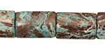 Blue Calsilica Jasper Thin Pillow 20x12