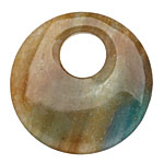 Blue Green Quartz Off Center Donut 45mm