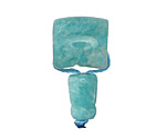 Brazil Amazonite Barrel Guru Bead 15mm