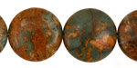 African Green Opal Puff Coin 20mm