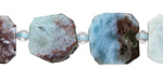 Larimar Natural Cut Nugget Slice 12-16x13-16mm